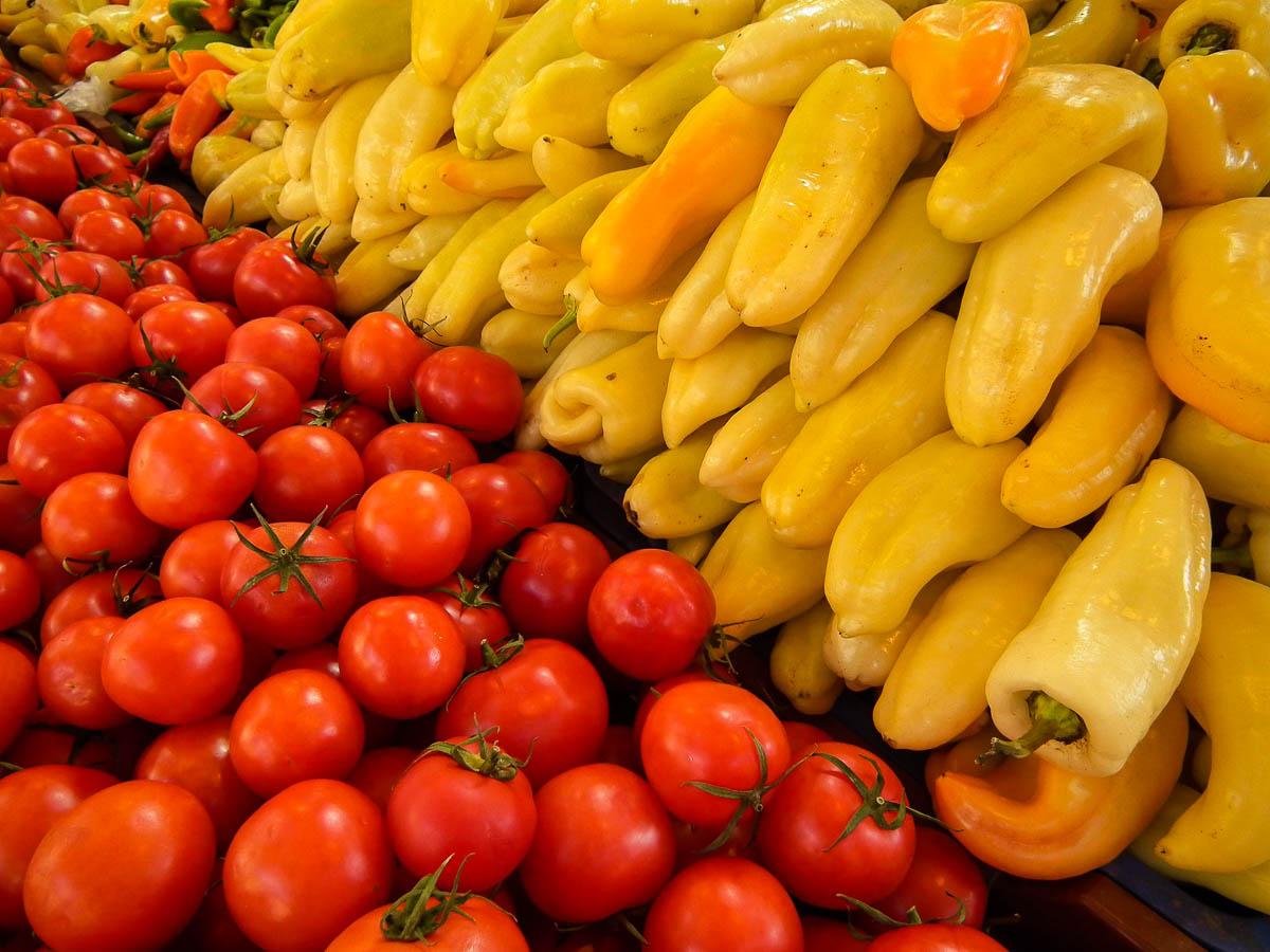 Gemüse in der Zentralen Markthalle Budapest